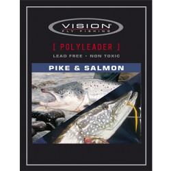Vision PolyLeader Pike/Salmon 5Ft 18 Kg