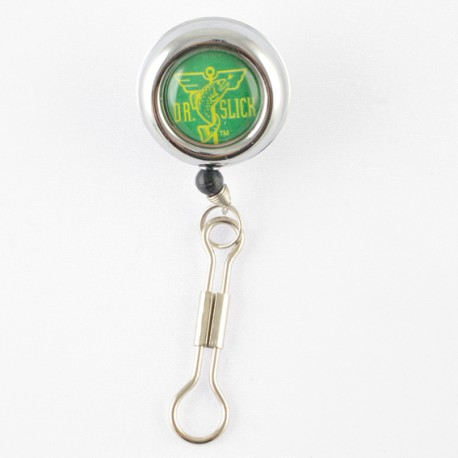 Dr Slick Pin on Reel, Clip on