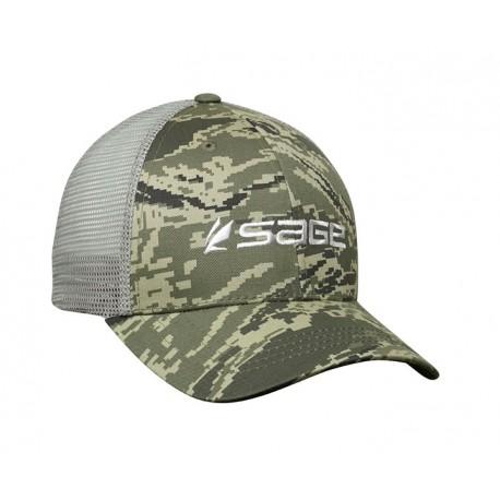 Sage Trucker Cap Camo