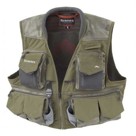 Simms Guide Vest Hex Camo Loden