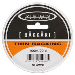 Vision Thin Backing Bäkkäri 20 lb 100 m