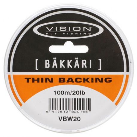 Vision Thin Backing Bäkkäri 20 lb 100 m