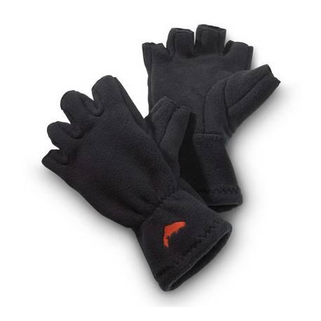 Simms Fleece Half Finger Gloves Black