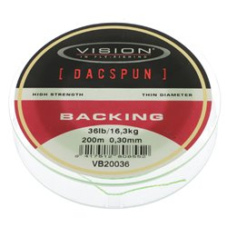 Vision DACSPUN Backing 36 lb/16,1 kg, 200 m spole
