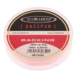Vision DACSPUN Backing 28 lb/12,7 kg, 100 m spole