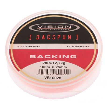 Vision DACSPUN Backing 28 lb/12,7 kg, 100 m spole