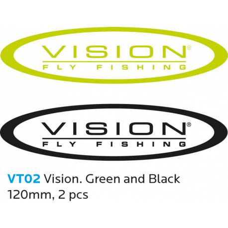 VISION Sticker 120 mm 2 pc Green and Black