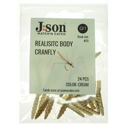 Realistic Body Cranefly - Cream