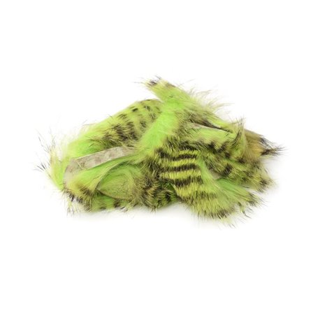 Black Barred Magnum Rabbit Strips - Chartreuse