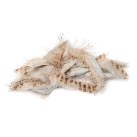 Brown Barred Magnum Rabbit Strips - Flesh
