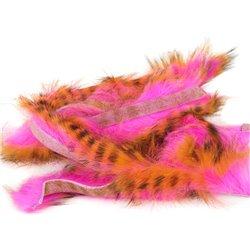 Tiger Barred Magnum Rabbit Strips - BLACK BR HOT ORANGE/HOT PINK