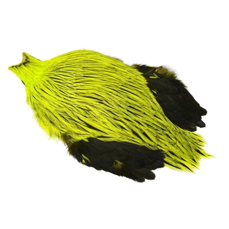 Whiting Freshwater Streamer Cape - Badger dyed Fl Yellow Chartreuse