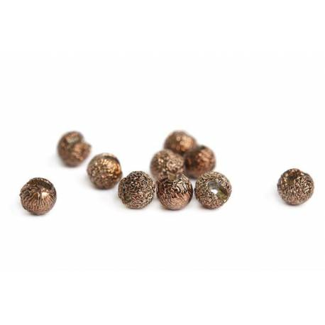 Gritty Slotted Tungsten Beads - Metallic Coffee 3 mm