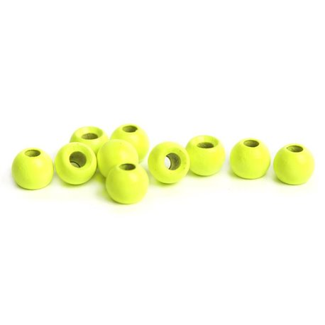 Brass Beads - Fl Chartreuse